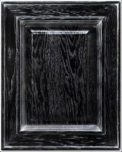 кухня цвет черный +серебро