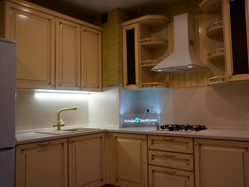 Кухня Эко цвет крем золото