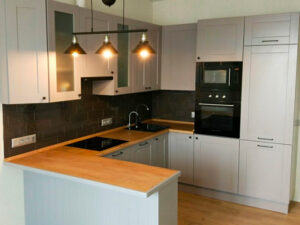 кухня кальвадос серого цвета